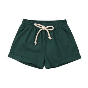 Basic Cotton Shorts | Green