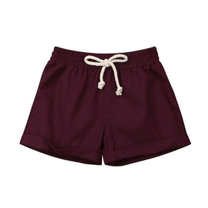 Basic Cotton Shorts | Burgundy