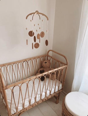 Maddex River - The Rattan Rounds Bassinet Mobile