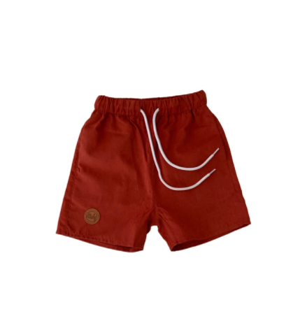 Kicky Swim - Board Shorts | Rust Red