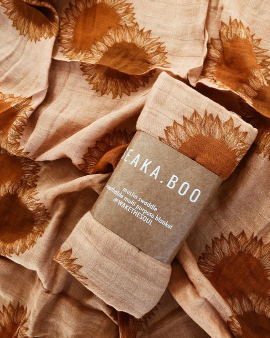 Seaka Boo - Sunflower Fields Muslin Wrap