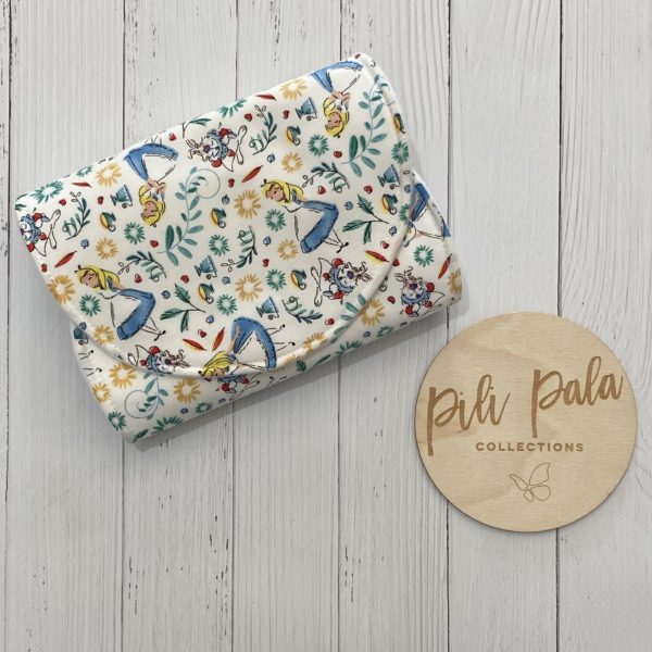 Pili Pala Collections - Wonderland Contoured Burp Cloth