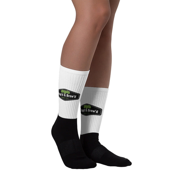 Black foot socks - Hopp'd & Brew'd Official - Roc City Sauces