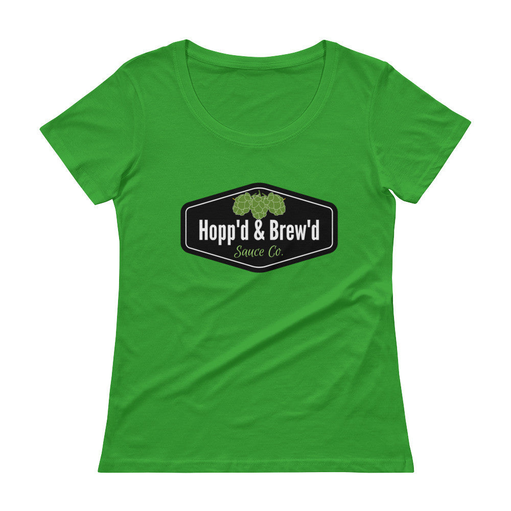 Ladies' Scoopneck T-Shirt - Hopp'd & Brew'd Official - Roc City Sauces