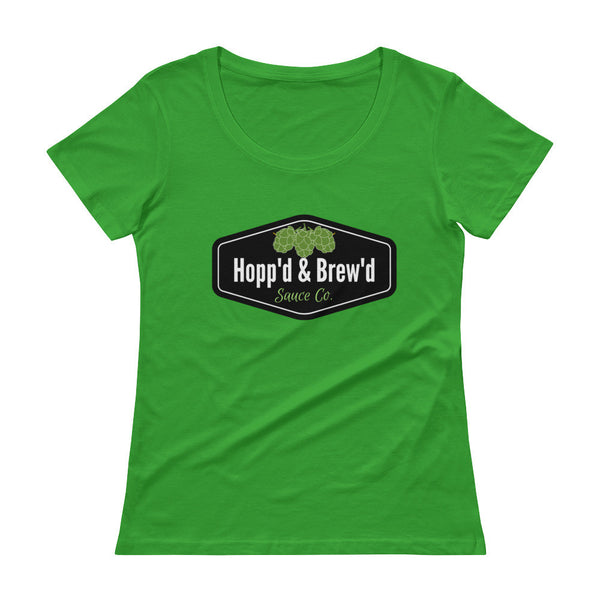 Ladies' Scoopneck T-Shirt - Hopp'd & Brew'd Official