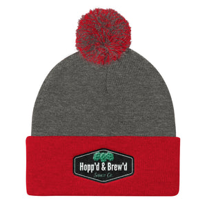 Pom Pom Knit Cap - Official Hopp'd & Brew'd - Roc City Sauces