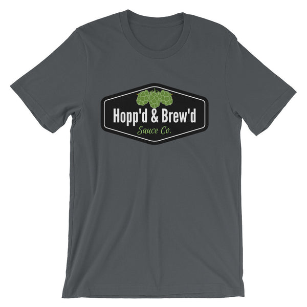 Unisex short sleeve t-shirt - Hopp'd & Brew'd Official - Roc City Sauces