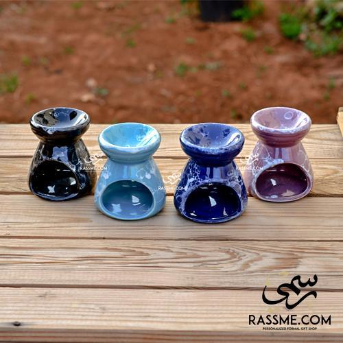 Tealight Candle Ceramic Incense Oil Warmer - in Jordan