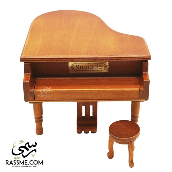 Wooden Music Box Piano - Free Engraving
