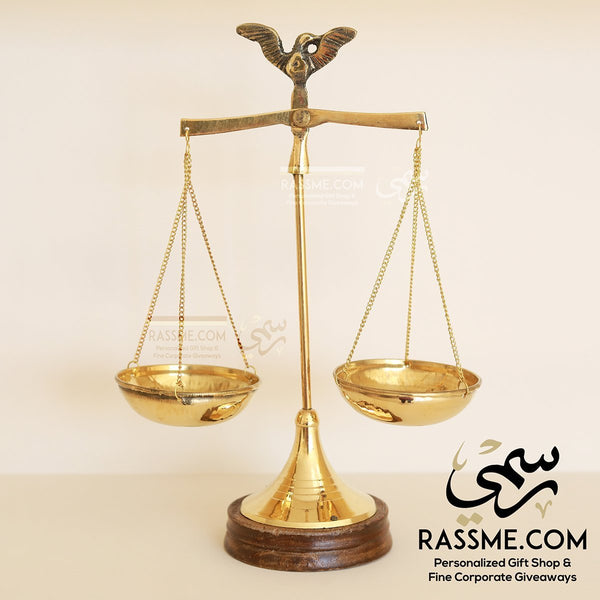 Rose Wood & Brass Balance Scale Gifts for lawyers in Jordan - in Jordan