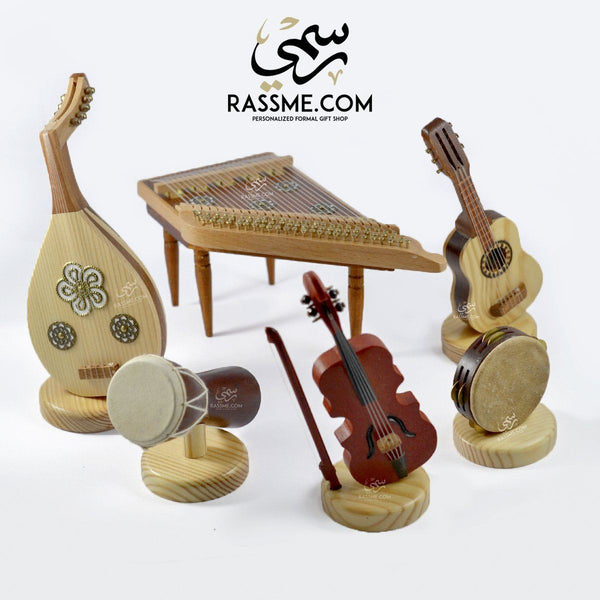 Wooden Musical Instruments Set - 6 Pcs - Free Writing On The Box - in Jordan