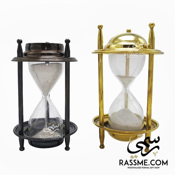 Mini Hourglass Solid Brass Indian Sand Clock - Free Engraving - Rassme
