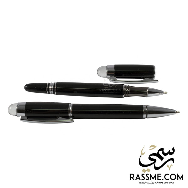 High Quality Black Transparent Pens Set With Box - Free Engraving - in Jordan