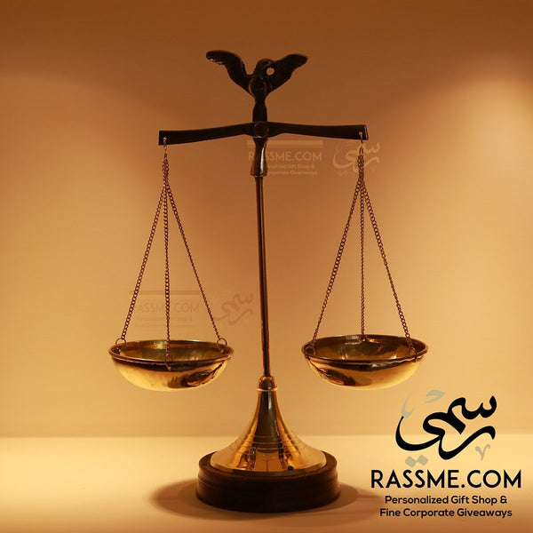 Rose Wood & Brass Balance Scale Gifts for lawyers in Jordan - Rassme