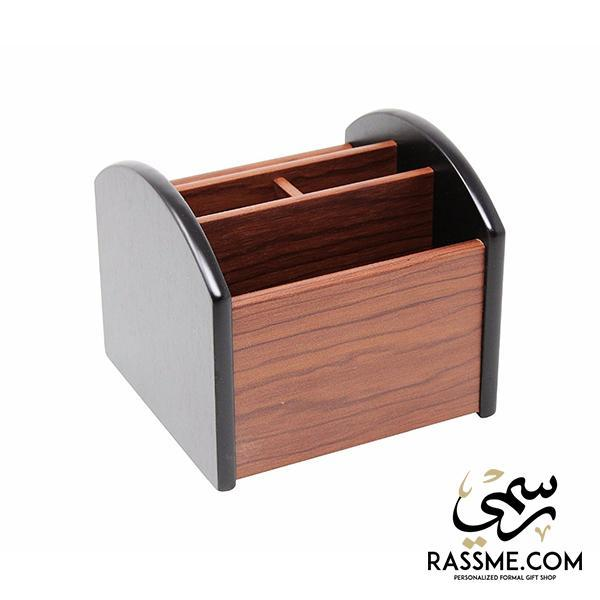 Wooden Desk Organizer Rotatable