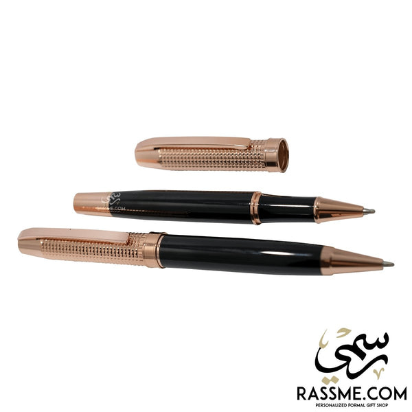 High Quality Black Brass Pens Set With Box - Free Engraving - Rassme