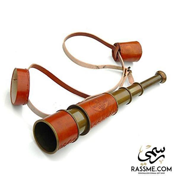 Antique Leather Solid Brass Telescope - Free Engraving - in Jordan