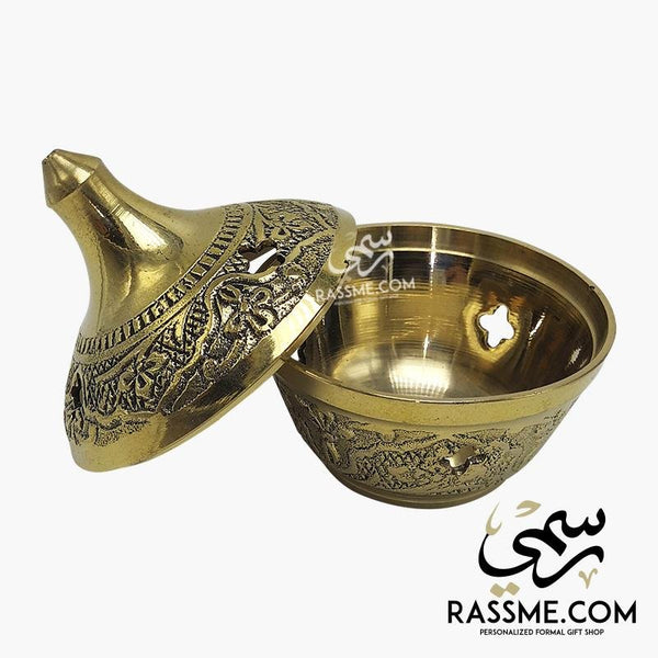 Solid Brass Indian Made Date Plate / Incense Burner - in Jordan
