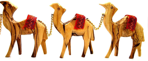 Olive Wood Camels Caravan and Donkey - in Jordan