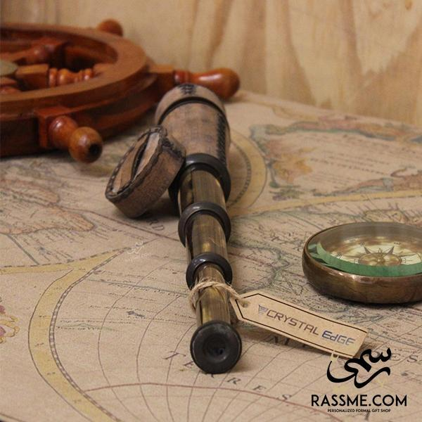 Antique Leather Solid Brass Telescope - Free Engraving - Rassme