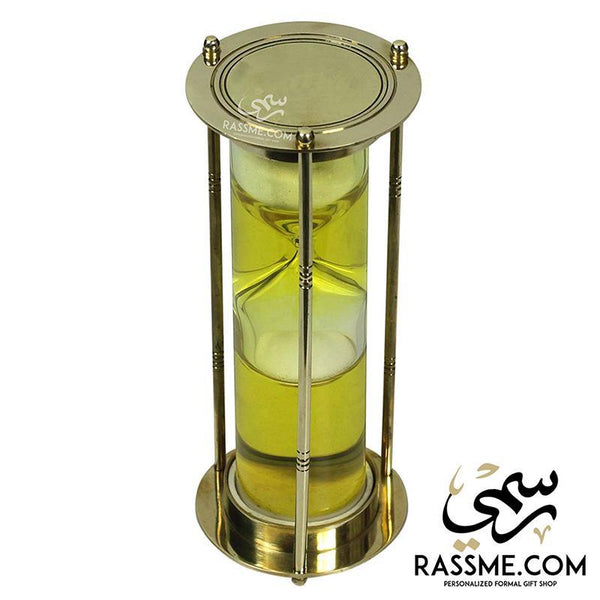 Solid Brass Hourglass Water Sand Clock Timer - Free Engraving - in Jordan