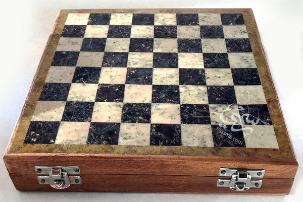 Marble Chess Pieces and Board Set - in Jordan