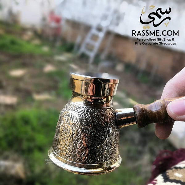 Handmade Turkish Coffee Pot High Quality Brass - Rassme