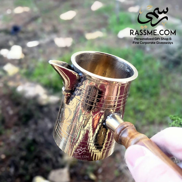 Handmade Flat Coffee Pot High Quality Gold & Silver - Free Engraving - in Jordan