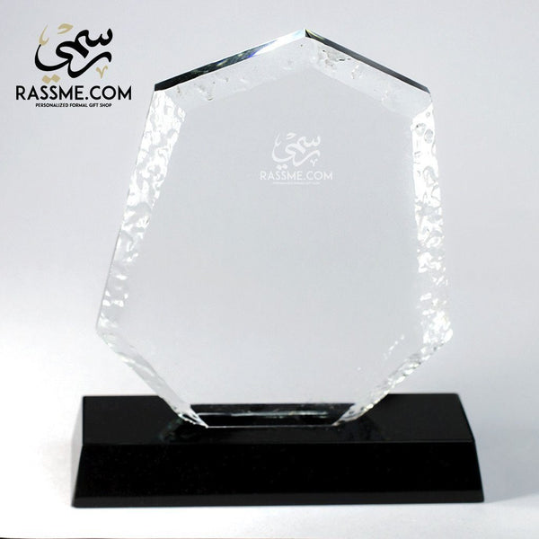 Plaque Seven Edges Crystal - Free Hand Engraving - in Jordan