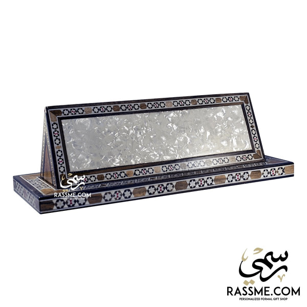 Desk Wooden Name Mosaic Arabesque Light - Rassme