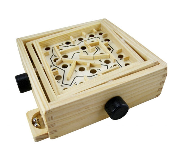 Wooden Labyrinth Puzzle Mind Game Maze - Rassme
