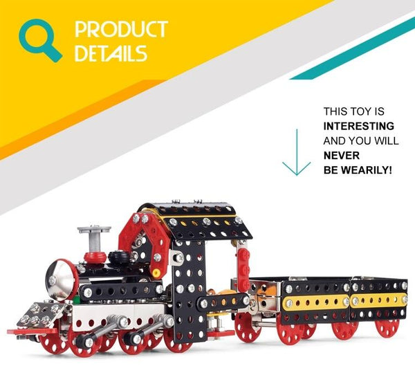 Assembly 3D Metal Train Alloy Model
