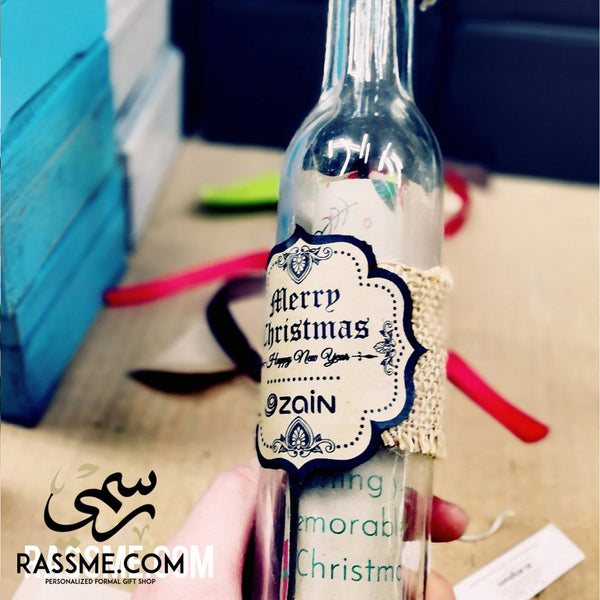 Personalized Large Message In The Bottle - Rassme