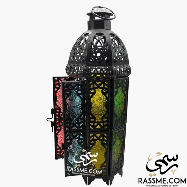 LED FLAMELESS Tower Arabian Glass Ramadan Lantern Desk - Rassme