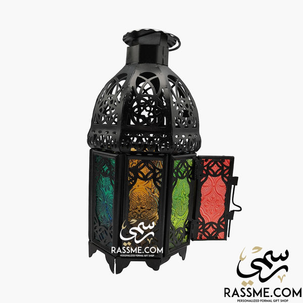 Candle Traditional Arabian Glass Lantern Desk - in Jordan