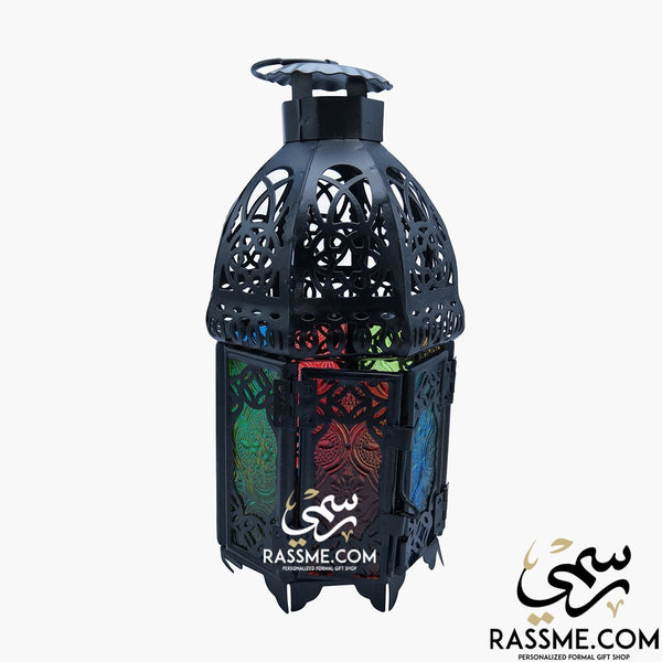 Candle Traditional Arabian Glass Lantern Desk - Rassme