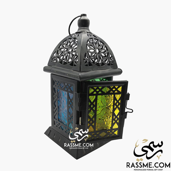 Candle House Arabian Glass Lantern Desk - Rassme