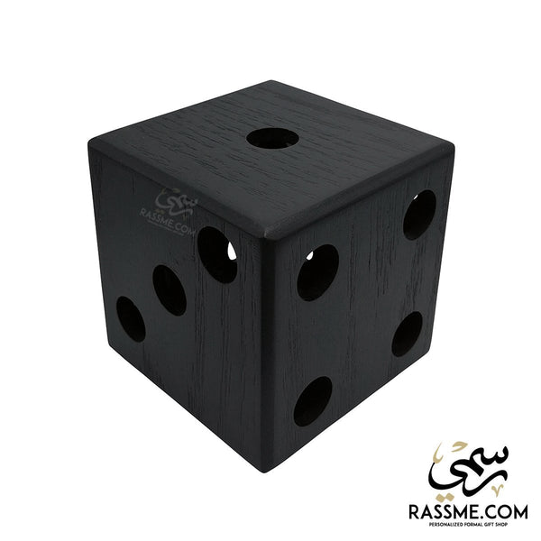 Wooden Pens Holder Dice - Free Engraving