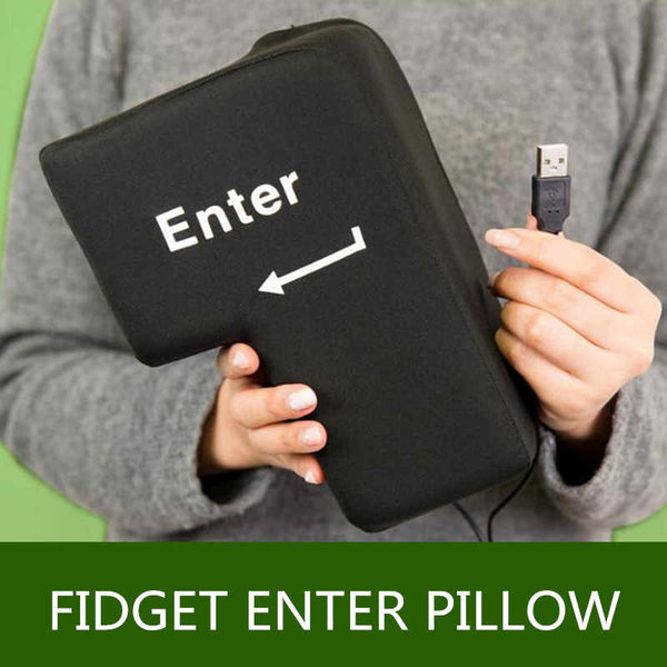 Big Enter Anti Stress Relief Supersized Enter Key Unbreakable USB Pillow
