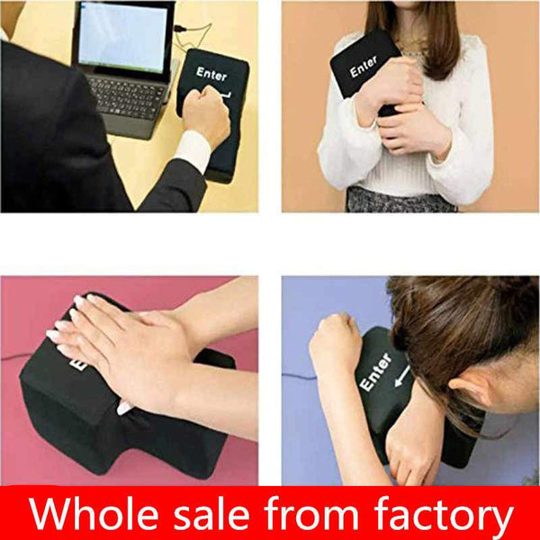 Big Enter Anti Stress Relief Supersized Enter Key Unbreakable USB Pillow - in Jordan