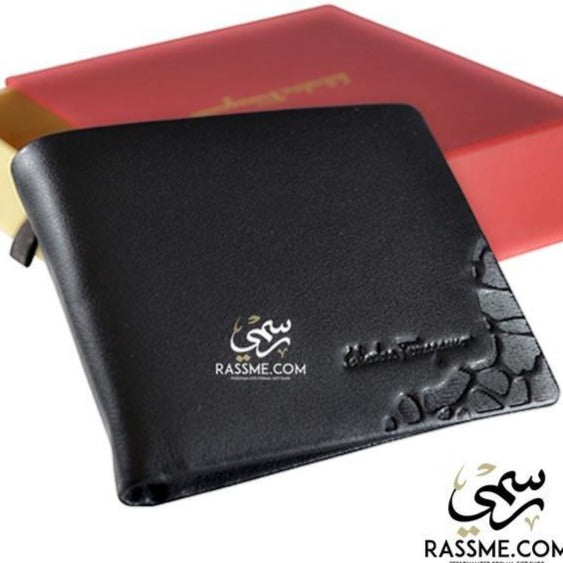 High Quality Leather Wallet Liquid corner - Free Engraving - in Jordan