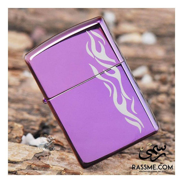 Personalized Flame Abyss Purple Matte - Zippo Lighters In Jordan - Rassme