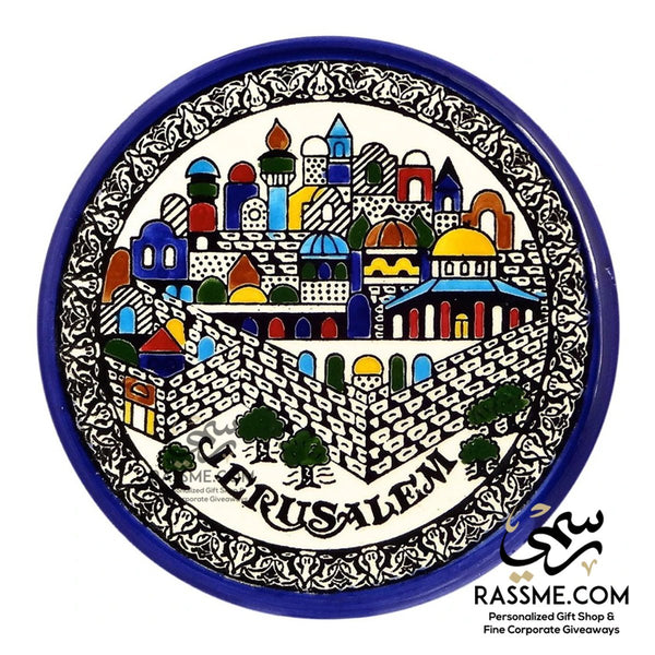 JERUSALEM DECORATIVE CERAMIC PLATE - in Jordan