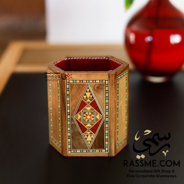Wooden Mosaics Pen Holder Jordan Corporate Gifts - Rassme