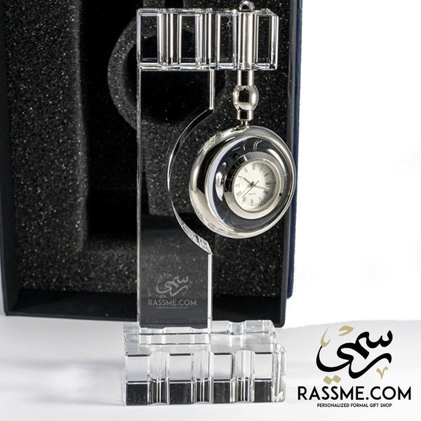 Pure Crystal Clock - Free Hand Engraving - in Jordan