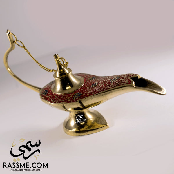 Aladdin Magical Lamp Brass & Enamel Colors - Free Engraving - Rassme