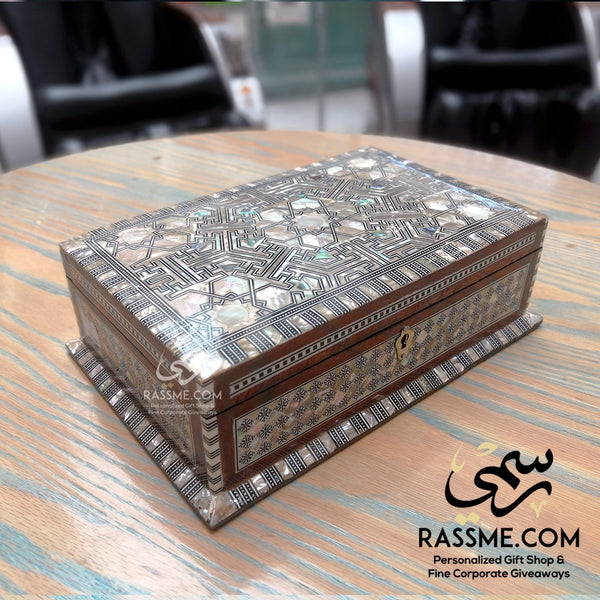 Wooden Arabesque Handcrafted Jewelry Box - Rassme