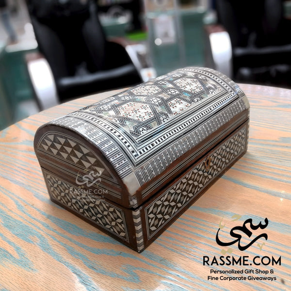 Authentic Wooden Arabesque Handcrafted Jewelry Box - Rassme