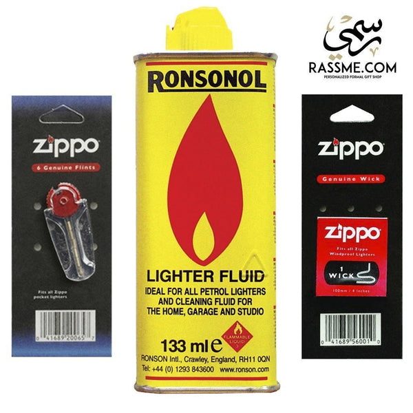 Genuine Zippo Fuel + Flint + Wick Set - in Jordan
