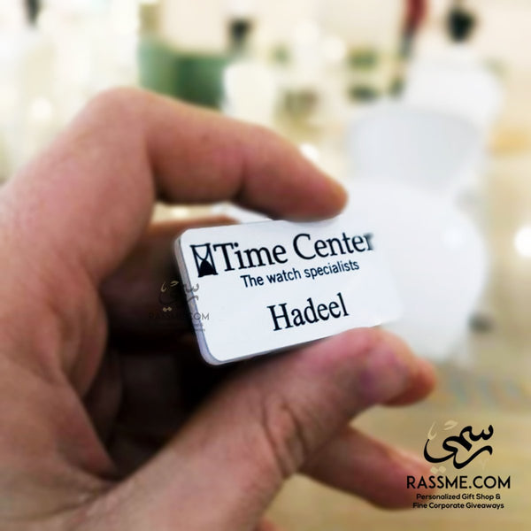High Quality Acrylic Name Tags Name Badges in Jordan Pin / Magnet - باجة اسم - Rassme